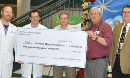 Medical Staff Donates $100,000 to Kenmore Mercy Foundation