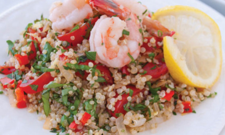 Lemon Garlic Shrimp with Herbed Quinoa