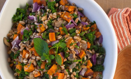 Sweet Potato, Kale and Farro Salad