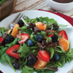 Wild Berry Salad with Chocolate Dressing