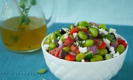 Greek Edamame Salad