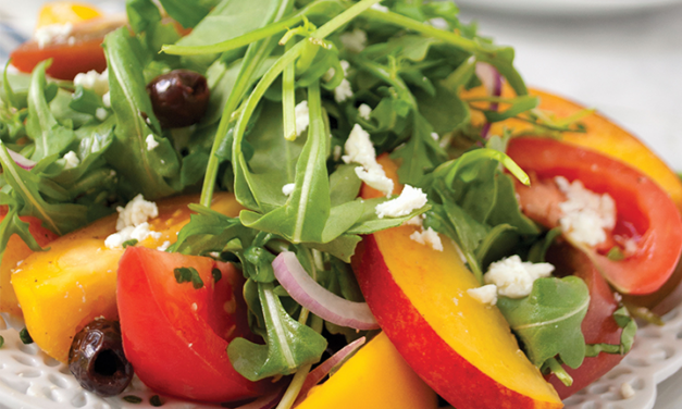 Peach, Tomato and Olive Salad