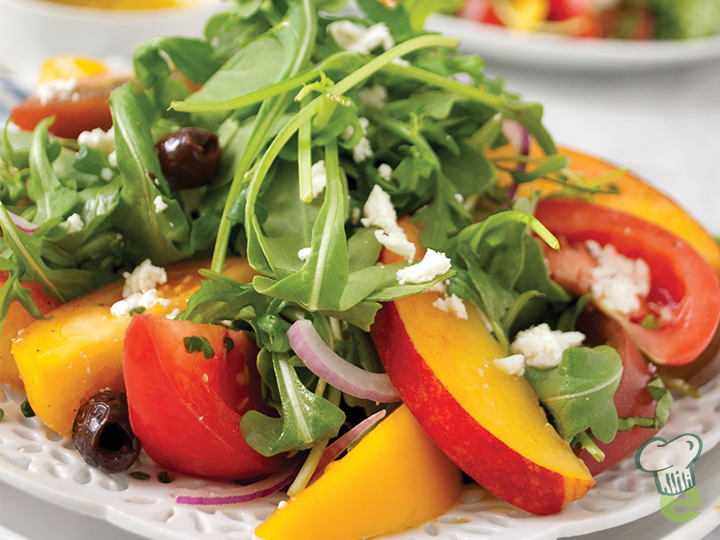 Peach, Tomato and Olive Salad - Catholic Health Today
