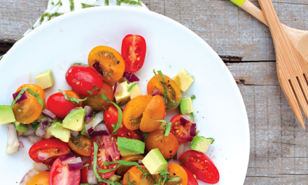 Tomato, Basil and Avocado Salad