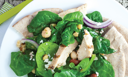 Roasted Chicken and Spinach Salad