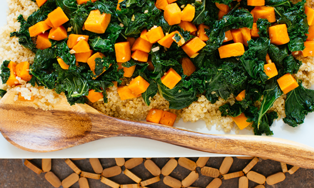 Sweet Potatoes and Kale with Quinoa