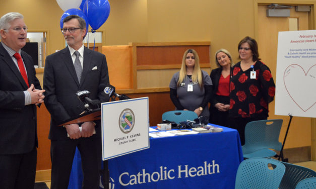 "Erie County Clerk & Mercy Hospital Launch Free ""Heart Healthy"" Auto Bureau Blood Pressure Screenings"