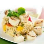 Seared Scallops and Quinoa