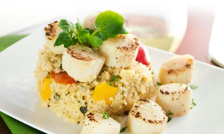 Seared Scallops and Quinoa