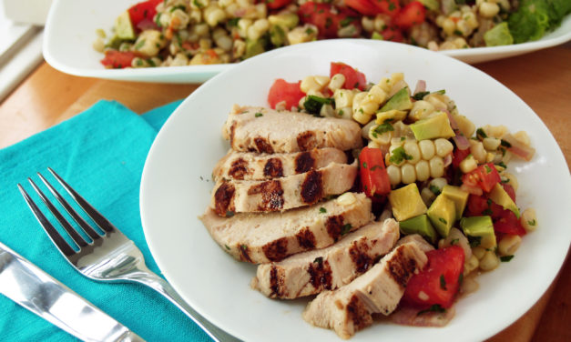 Grilled Chicken with Corn Salsa