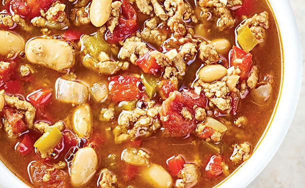 Slow-cooked Turkey & Bean Chili