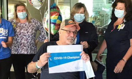 Kenmore Mercy Celebrates Discharge of COVID-19 Champion