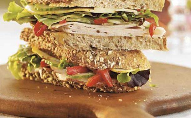 Turkey & Veggie on 7-Grain Bread
