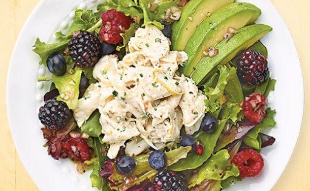 Crab & Avocado Salad with Berry Vinaigrette