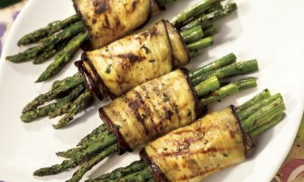 Grilled Asparagus and Eggplant Roll-ups