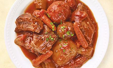 Braised Beef Chuck Roast with Stew Veggies
