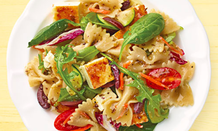 Seared Feta & Vegetable Pasta Salad