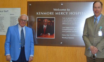 Russell Salvatore Donates $125,000 to Kenmore Mercy Hospital for New Televisions