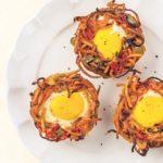 Eggs in a Sweet Potato Noodle Nest
